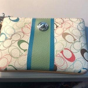 Coach Bags - Coach colored wristlet